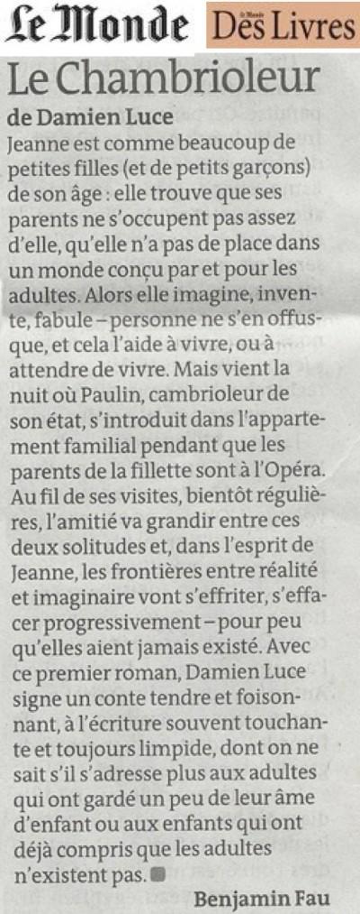 presse_monde_des_livres_chambrioleur_damien_luce